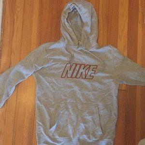 Gray Nike hoodie